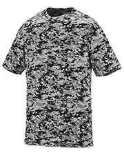Augusta 1799 Boys Digi Camo Wicking Short Sleeve T-Shirt at GotApparel
