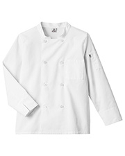 White Swan Brands 18017  Long Sleeve Moisture Wicking Mesh Back Chef Coat at GotApparel