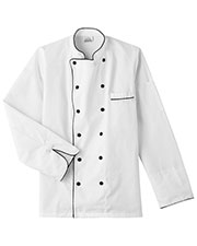 Five Star Unisex 18120 Executive Chef Jacket With Black Trim at GotApparel