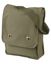 Authentic Pigment 1902 Unisex 14 oz. Pigment-Dyed Canvas Field Bag at GotApparel