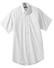 Edwards 1925 Men's Button Down Collar Pinpoint Oxford Short Sleeve Shirt at GotApparel