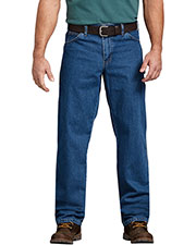 Dickies 19294 Unisex Relaxed Fit Stonewashed Carpenter Denim Jean Pant at GotApparel