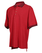 Tri-Mountain 196 Men Sterling Cotton Pique Short Sleeve Golf Shirt With Jacquard Trim at GotApparel