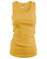 Soffe 197V  Jr Basic Rib Knit Tank  100c at GotApparel