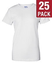 Gildan G200L Women Ultra Cotton 6 Oz. T-Shirt 25-Pack at GotApparel