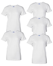 Gildan G200L Women Ultra Cotton 6 Oz. T-Shirt 5-Pack at GotApparel