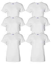 Gildan G200L Women Ultra Cotton 6 Oz. T-Shirt 6-Pack at GotApparel