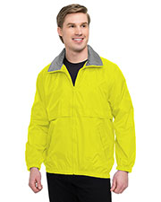 Tri-Mountain 2000 Men Highland Nylon Jacket Mesh Lining With Contrasting Collar Trim at GotApparel