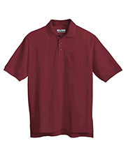 Tri-Mountain 206 Men Stain-Resistant Pique Pocket Golf Shirt at GotApparel