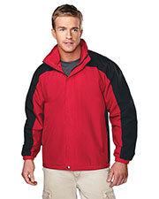 Tri-Mountain 2100 Men Meridian Ripstop Nylon Long Sleeve Jacket With Mesh Lining at GotApparel