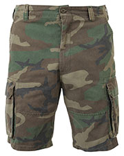 Rothco 2140 Men Vintage Camo Paratrooper Cargo Shorts at GotApparel
