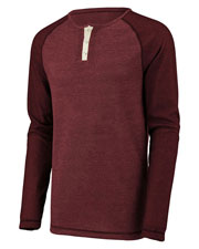 Augusta 2150 Men Linear Fusion Long Sleeve Henley at GotApparel