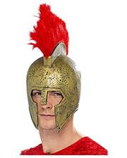 Smiffys 21736 Men Perseus Gladiator Helmet, Gold at GotApparel