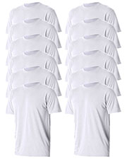 Jerzees 21B Boys 5.3 Oz. 100% Polyester Sport With Moisture Wicking T-Shirt 12-Pack at GotApparel