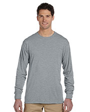 Jerzees 21ML Men 5.3 Oz. 100% Polyester Sport With Moisture Wicking Long-Sleeve T-Shirt at GotApparel