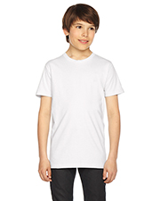 American Apparel 2201W Boys Youth Fine Jersey Short-Sleeve T-Shirt at GotApparel