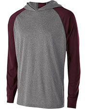 Holloway 222539 Unisex Dry-Excel Echo Hooded T-Shirt at GotApparel
