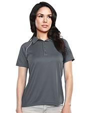 Tri-Mountain 225 Women Dauntless Raglan Knit Polo Shirt at GotApparel