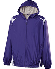 Holloway 229276  Youth Polyester Full Zip Hooded Collision Jacket at GotApparel