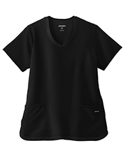 White Swan Brands 2401  Jockey®   Cool Mesh Shirttail Top.  25.5 Length.  2 Pockets.  Curved  V-Neck  Center  Panel on Back for All-Day Comt  Breathability.  Princess Lines  a More Flattering Fit.   Hem with  Trimmed Edge  an Athletic In at GotApparel