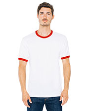 Custom Embroidered American Apparel 2410W Unisex Fine Jersey Ringer T-Shirt at GotApparel