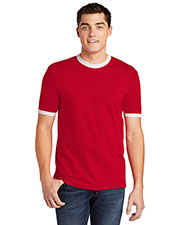 American Apparel 2410W Men Fine Jersey Ringer T-Shirt at GotApparel