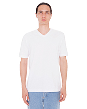 Custom Embroidered American Apparel 24321W Men 4.3 oz FINE JERSEY SHORT SLEEVE CLASSIC V-NECK at GotApparel