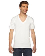 Custom Embroidered American Apparel 2456W Men 4.3 oz Fine Jersey Short-Sleeve V-Neck T-Shirt at GotApparel