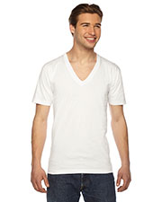 American Apparel 2456 Fine Jersey short sleeve VNeck at GotApparel