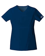 Cherokee Workwear 24703 Women V-Neck Top at GotApparel