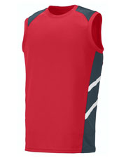 Augusta 2504 Men Oblique Sleeveless Training Tank Jersey at GotApparel
