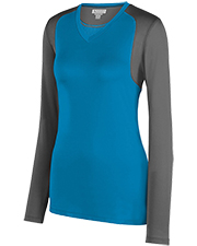 Augusta 2522 Women Lds Astonish Lng Sleeve Jersey at GotApparel