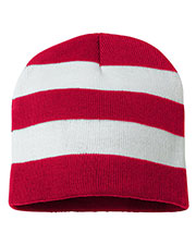 Sportsman Sp01  Rugby Striped Knit Beanie at GotApparel