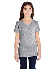 Girls V-Neck Fine Jersey T-Shirt at GotApparel
