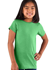 LAT 2616 Girls Fine Jersey Longer Length T-Shirt at GotApparel