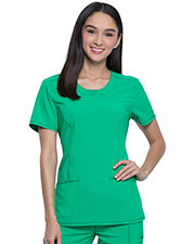Cherokee 2624A Women Round Neck Top at GotApparel
