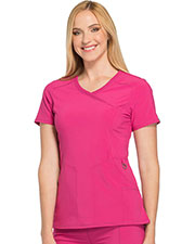 Cherokee 2625A Women Mock Wrap Top at GotApparel