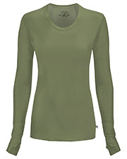 Cherokee 2626A Women Long Sleeve Knit Tee at GotApparel