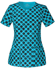Cherokee 2629A Women Round Neck Top at GotApparel