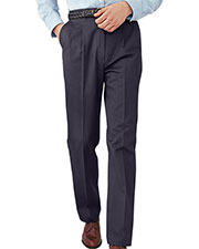 Edwards 2630 Men Wrinkle Resistant Back Pocket Pleated Zipper Pant at GotApparel
