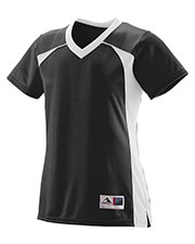 Augusta 263 Girls Victor Replica Short Sleeve Jersey at GotApparel