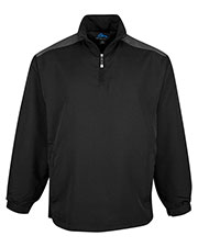 Tri-Mountain 2650 Men Parkview Windproof/Water Resistant 1/4 Zip Long Sleeve wind shirt at GotApparel