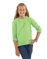 LAT 2652 Girls' French Terry Slouchy at GotApparel