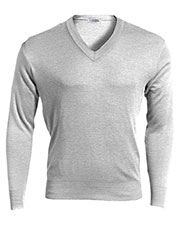 Edwards 265 Unisex Ribbed Collar Interlock Stitch Long-Sleeve V-Neck Sweater at GotApparel