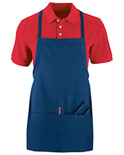 Augusta 2710 Unisex Tavern Full Length Apron With Pouch OneSize at GotApparel