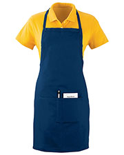 Augusta 2730 Unisex Oversized Waiter Cotton Apron With Pockets OneSize at GotApparel