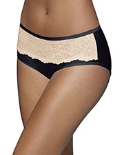 Bali 2783 Women One Smooth U Comfort Indulgence Satin with Lace Hipster at GotApparel
