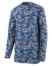 Augusta 2789 Boys Digi Camo Wicking Long Sleeve T-Shirt at GotApparel