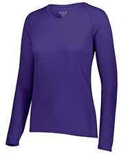 Augusta 2797 Women Attain Wicking Long Sleeve Shirt at GotApparel