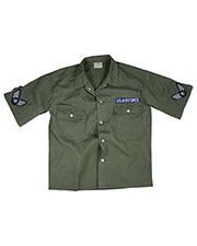 Rothco 2875 Adult Vintage Army Air Force Short Sleeve Bdu Shirt at GotApparel